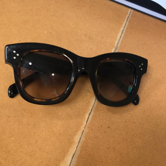 b01b152397 Celine Accessories - Celine Helen black tortoise sunglasses NWT